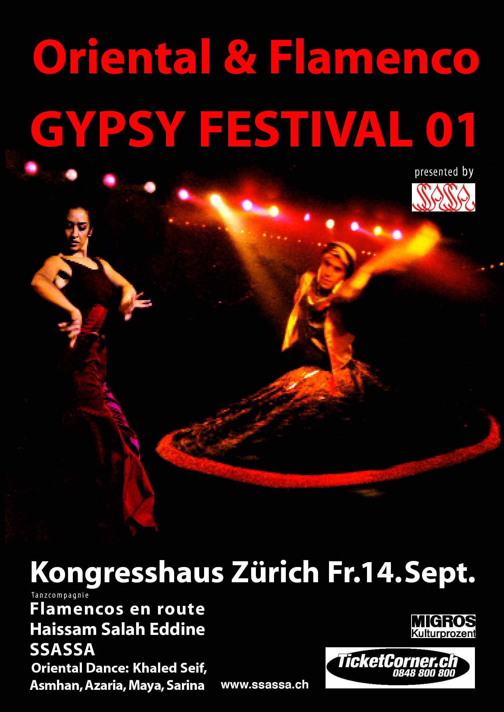 Flyer Gypsyfestival 2001
