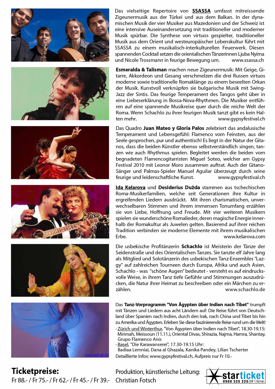 Flyer Gypsyfestival 2011