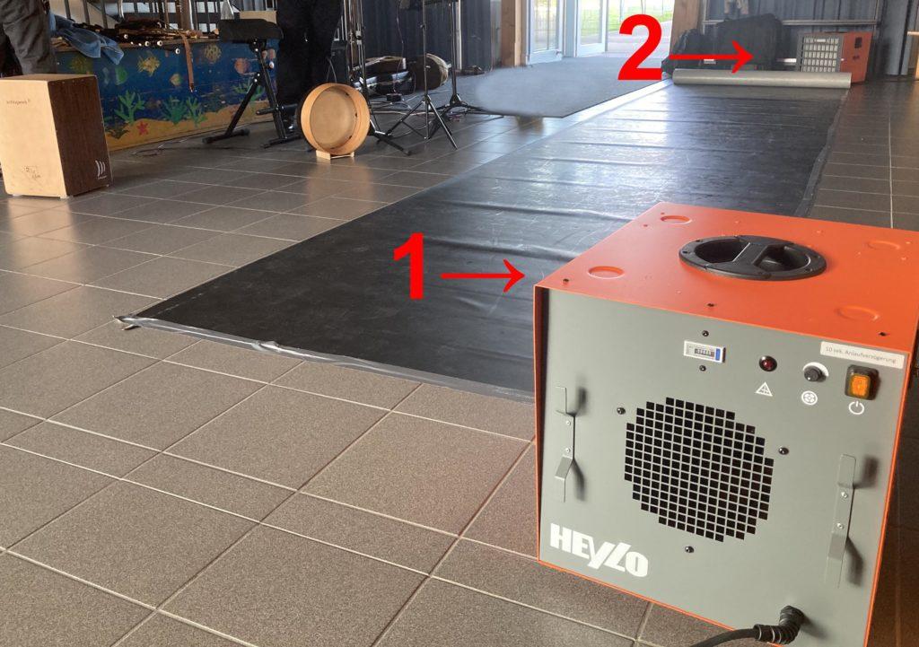 2 Luftreinigungsmaschinen